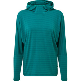 Mountain Equipment Groundup Pull à capuche Femme, tasman blue stripe